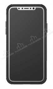 iPhone XS Max Süper Koruma Standlı Lacivert Kılıf-5