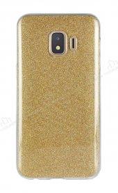 Eiroo Silvery Samsung Galaxy J2 Core Simli Gold Silikon Kılıf