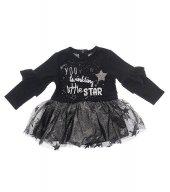 Zekids Kız Bebek Tüllü Yıldızlı Elbise