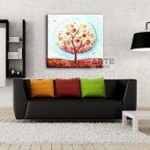 Arte Elma Ağacı Kanvas Tablo