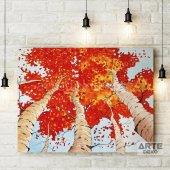 Sonbahardaki Ağaçlar Kanvas Tablo