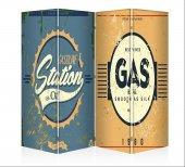Gas Oıl Dört Kanat Kanvas Paravan
