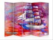 Yelkenli Gemi Beş Kanat Kanvas Paravan