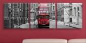 Londra Üç Parçalı Kanvas Tablo Saat
