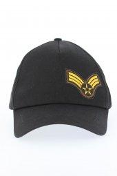 Siyah Renk Sarı Armalı Şapka