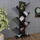 Moonlife Tree Dekoratif Kitaplık Siyah