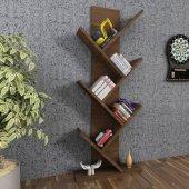 Moonlife Tree Dekoratif Kitaplık Ceviz