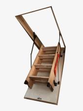 Nukan Ahşap 70x140 Cm Katlanır Çatı Merdiveni