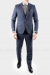 DeepSEA Kırçıllı Desen Çift Yırtmaç İtalyan Kesim Takım Elbise 1920130