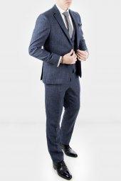 DeepSEA Kırçıllı Desen Çift Yırtmaç İtalyan Kesim Takım Elbise 1920130-2