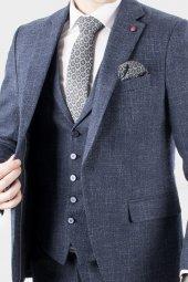 DeepSEA Kırçıllı Desen Çift Yırtmaç İtalyan Kesim Takım Elbise 1920130-3