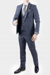 DeepSEA Kırçıllı Desen Çift Yırtmaç İtalyan Kesim Takım Elbise 1920130-4