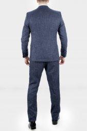 DeepSEA Kırçıllı Desen Çift Yırtmaç İtalyan Kesim Takım Elbise 1920130-6
