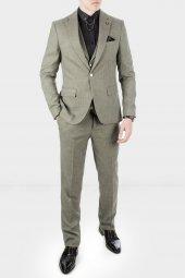 DeepSEA Kırçıllı Desen Çift Yırtmaç İtalyan Kesim Takım Elbise 1920130-7