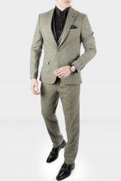 DeepSEA Kırçıllı Desen Çift Yırtmaç İtalyan Kesim Takım Elbise 1920130-8