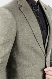DeepSEA Kırçıllı Desen Çift Yırtmaç İtalyan Kesim Takım Elbise 1920130-9