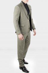 DeepSEA Kırçıllı Desen Çift Yırtmaç İtalyan Kesim Takım Elbise 1920130-10