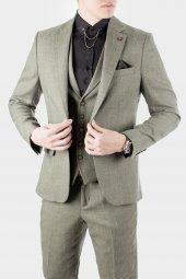 DeepSEA Kırçıllı Desen Çift Yırtmaç İtalyan Kesim Takım Elbise 1920130-11