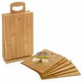 Bambu Standlı Kesme Tahtası 7 Parça-4