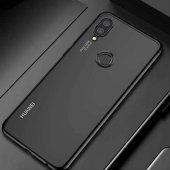 Coverzone Huawei P20 Lite Dört Köşeli Lazer Silikon Siyah + Tempe