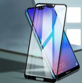 Huawei Honor 8x Tam Kapatan Kavisli Cam Siyah