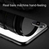 iPhone X Arka Koruyucu Kırılmaz Cam Ekran Koruyucu SİYAH-3