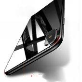 iPhone X Arka Koruyucu Kırılmaz Cam Ekran Koruyucu SİYAH-4