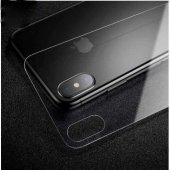 iPhone X Arka Koruyucu Kırılmaz Cam Ekran Koruyucu SİYAH-6