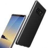 Samsung Galaxy Note 8 Silikon Şeffaf Kılıf Arka Koruyucu Kapak