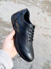 New Prato Erkek Ayakkabı 016 Siyah Antik Deri