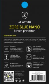 Samsung Galaxy Tab 4 T280 Ekran Koruyucu Zore Blue Nano Koruma