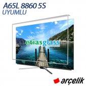 ETİASGLASS ARÇELİK A65L 8860 5S UYUMLU TV EKRAN KORUYUCU / 3mm Ekran Koruma Camı