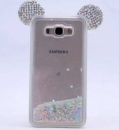 Samsung Galaxy Grand Prime Kılıf Micky Taşlı Sıvılı Silikon Kapak-2