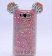 Samsung Galaxy Grand Prime Kılıf Micky Taşlı Sıvılı Silikon Kapak-3