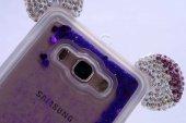 Samsung Galaxy Grand Prime Kılıf Micky Taşlı Sıvılı Silikon Kapak-5