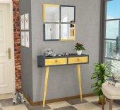 Stylish Bazalı Dresuar Sarı - Antrasit-2