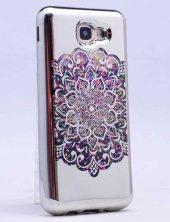 Samsung Galaxy A5 2016 Kılıf Lopard Lazer Çiçekli Sıvılı Silikon -8