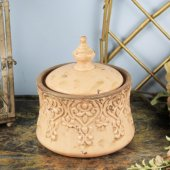 Eskitme Desenli Dekoratif Vazo Pembe Stı 31711 2