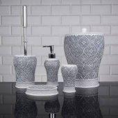 5 Parça Polyester Banyo Seti 1400