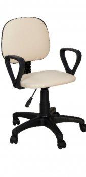 Sekreter Koltuğu Ofis Sandalyesi Bilgisayar Koltuğu Krem