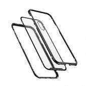 Apple iPhone X Baseus Manyetik Metalik Kılıf Arka Kapak Koruma