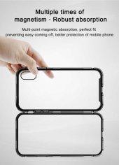 Apple iPhone X Baseus Manyetik Metalik Kılıf Arka Kapak Koruma-3