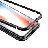 Apple iPhone X Baseus Manyetik Metalik Kılıf Arka Kapak Koruma-10