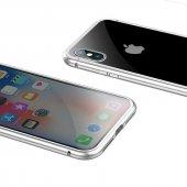 Apple iPhone X Baseus Manyetik Metalik Kılıf Arka Kapak Koruma-11