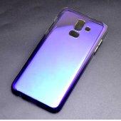 Samsung Galaxy J8 Kılıf Lopard Renkli Transparan Arka Kapak Gökku