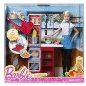 Barbie Makarna Şefi Oyun Seti Dmc36 Mattel Orjinal-2