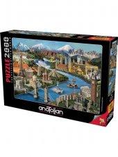 Puzzle 2000 Parça Simge Yerler Anatolian-2