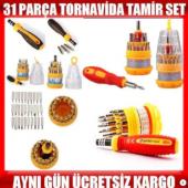 31 Parça Elektronik Saat Cep Telefonu Tamir Tornavida Seti Takımı
