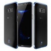 Baseus Glitter Mavi Samsung Galaxy S8 Kılıf Arka Koruyucu Kapak