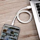 Meizu 16 Plus Baseus Double Ring Bakır Disk Şarj Kablosu Uzun Kab-7